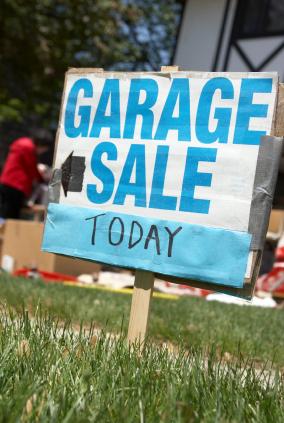 Save dollars at garage sales