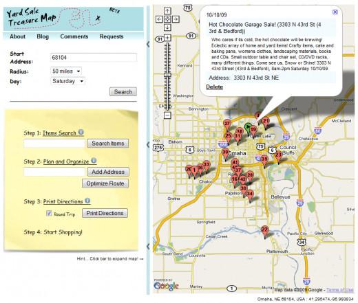 Garage sale treasure map
