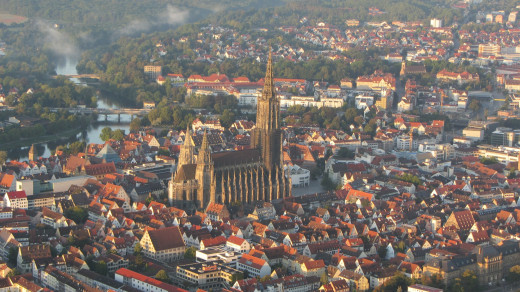 Another areal view of the Ulm Minster