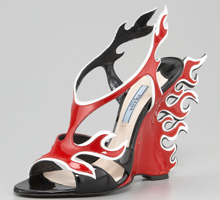 A great pair of shoes for those special female firefighters or even female super heroes.