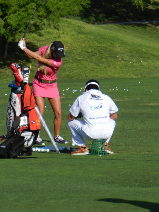 Tour pros are consistent because they practice and practice. Only at the range do they vary their swing. On course, they play like robots.