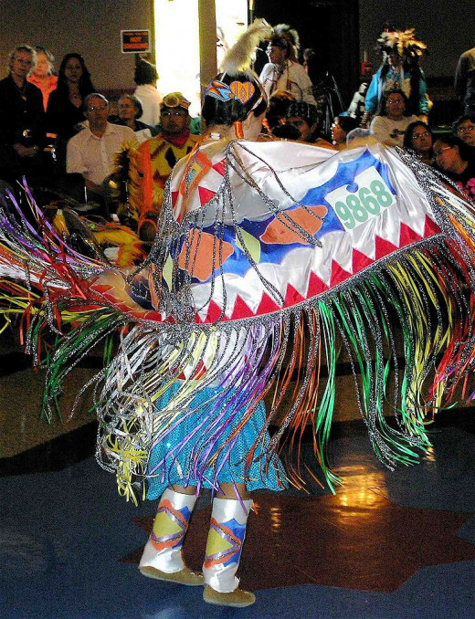Girls' shawl dance, Montana, 2007