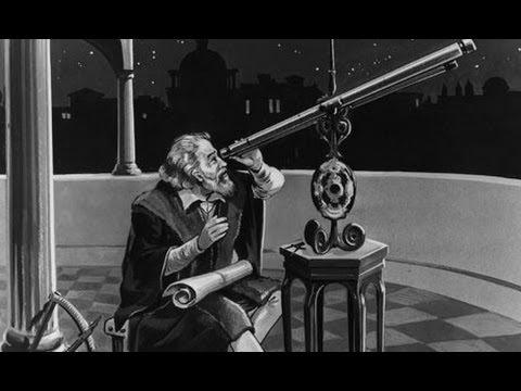 Galileo with his telescope