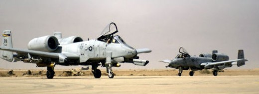 Parked A-10's not far from Ramadi.