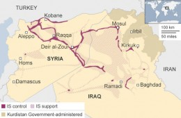 Current map of ISIS control.