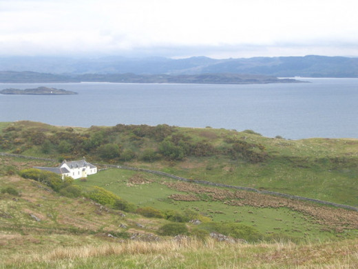 In this remote windswept cottage on Jura island in the Scottish Hebrides, the dying Eric Blair wrote the manuscript for 1984.