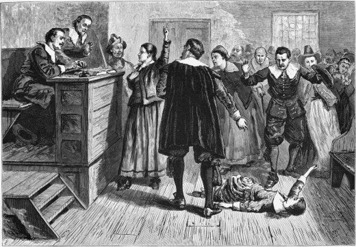 An artistic depiction of the Salem Witchcraft Trials.