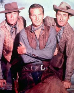 (From left) Clint Eastwood, Eric Fleming, Sheb Wooley.