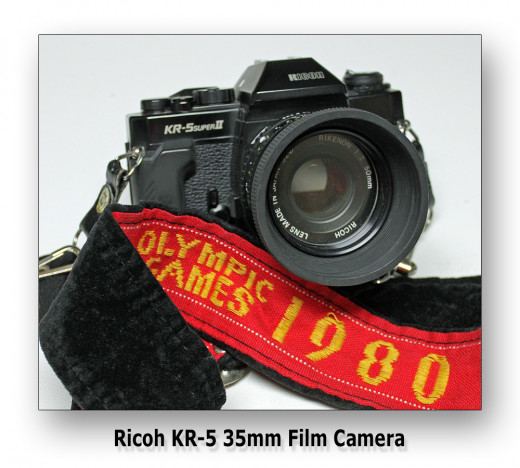 My faithful old Ricoh KR-5 35mm Film Camera