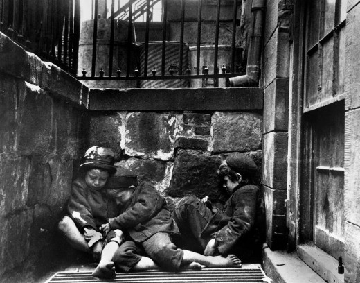 Sleeping Children NYC 1880s