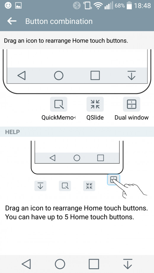 Home Touch Button settings