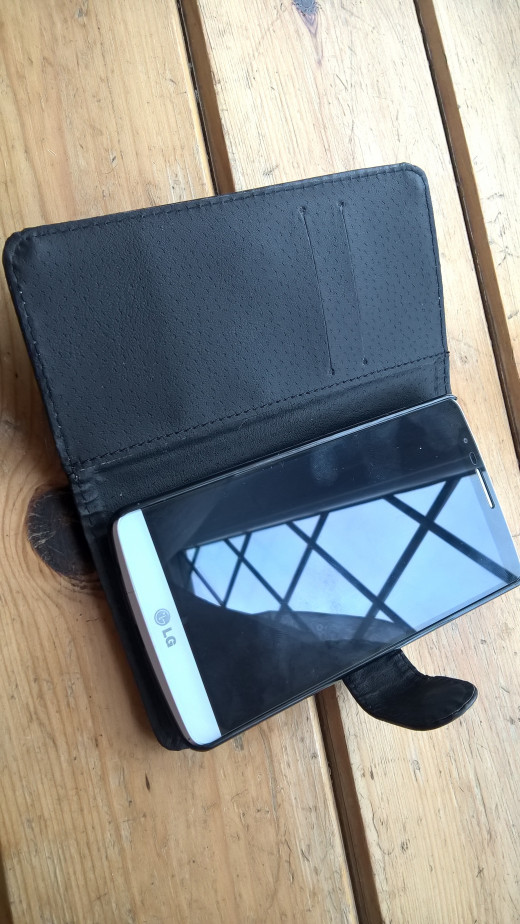Black Leather Flip Open