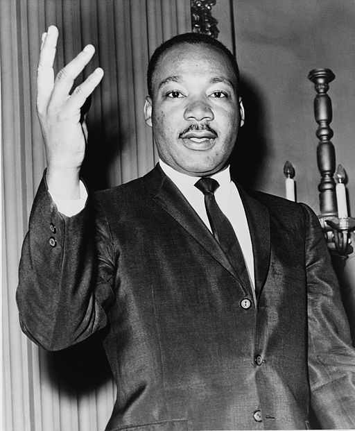 Dr. Martin Luther King, Jr  is speaking to the public.