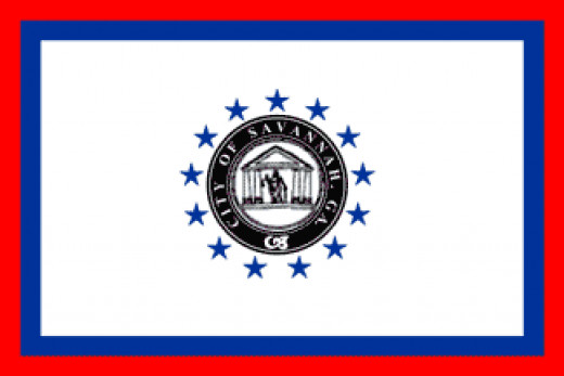 This is the official flag for the city of Savannah GA.
