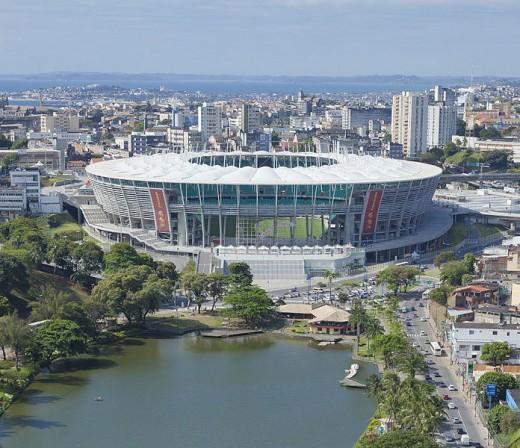 Itaipava Arena Fonte Nova from lake view