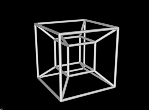 A tesseract is a cube in four dimensions. In 3D, it is only a cube.
