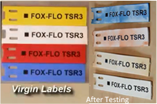 Labels still clearly legible after 8000 hours exposure to accelerated UV aging.