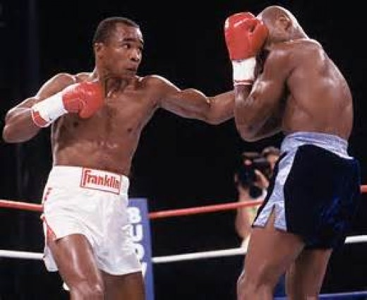 Sugar Ray Leonard beat Marvelous Marvin Hagler in 1987 to win the middleweight world title.