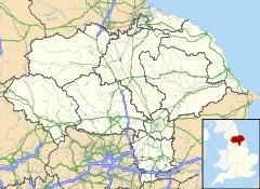 location of Yorkshire, England