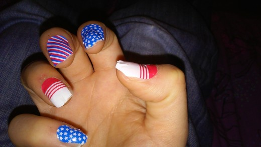 My latest Jamicure. Featured wrap: Patriot