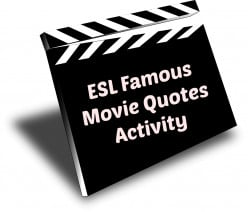 ESL - Famous Movie Quotes Activity