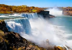 Niagara Falls borders both New York and Canada. It is one of the largest waterfalls in the entire world!