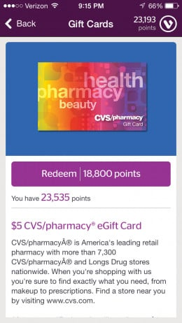 When you click the gift card this is what you will see.