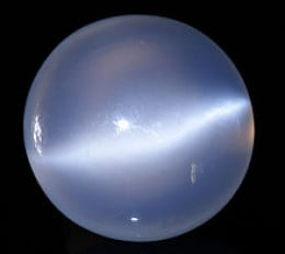 Polished moonstone gem