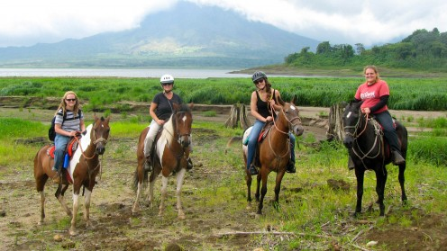 Horseback riding in a group is always great fun.