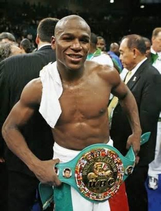 Floyd Mayweather, Jr. is the richest fighter in boxing history.  He has skills and the ability to sell tickets.
