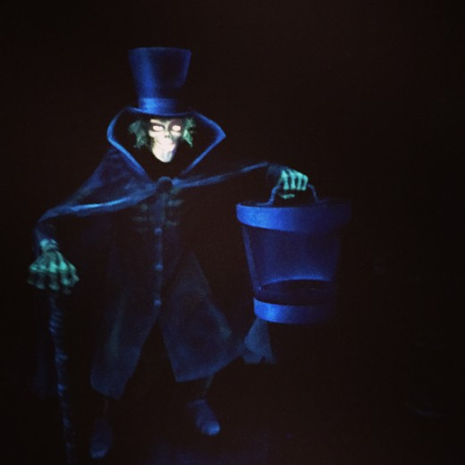 The Hatbox Ghost in the Haunted Mansion.