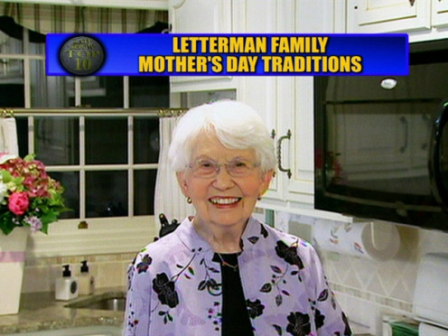 Dorothy Mengering, Dave's mom, appeared on many of his shows.