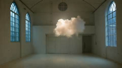 The indoor clouds are quite the spectacle but the best part is they are not an illusion.