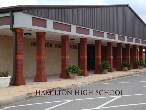 "This is my high school located in Hamilton, Al. The place where ""she"" shattered my life."