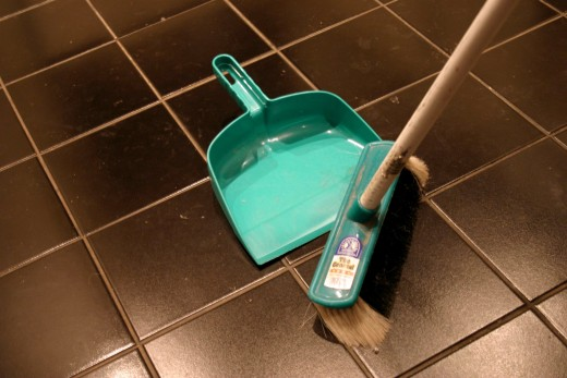 belief: Sweeping the floor during nigh time brings bad luck.