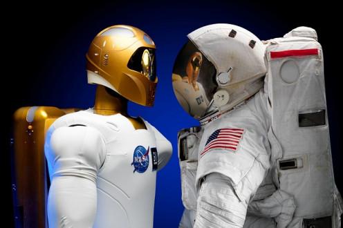 Robot and NASA Astronaut