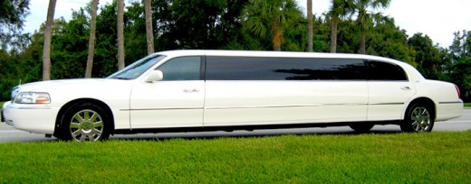 A limousine arrived