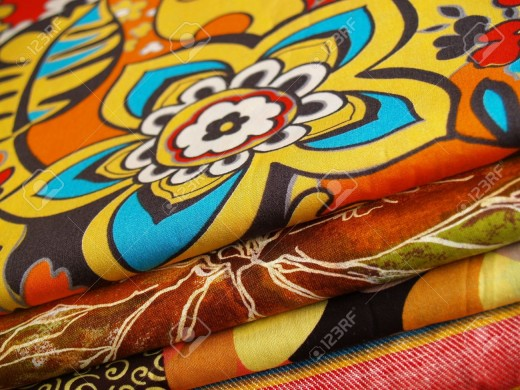 Colored printed Textiles