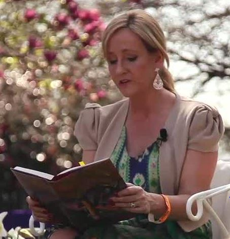 Author Rowling Reading a Book