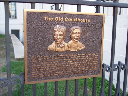 Plaque outside the Old Courthouse.
