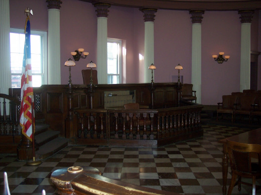 This is the court room where the Dred Scott decision was issued.