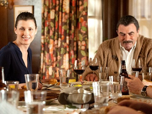 "This scene from ""Blue Bloods,"" is on every show. The family meets each Sunday and drinks while eating lunch. And on certain other scenes of the show there is consumption of beer and Scotch. What a signal to teens."