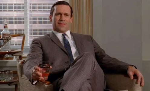 """Mad Men's"" Jon Hamm and others not only smoked, but drank at every turn."
