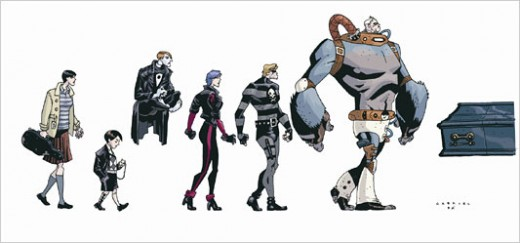 The Umbrella Academy, in order from right to left