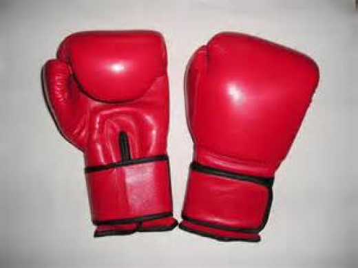 Pro fight gloves come in 8, 10 and 12 ounce sizes.