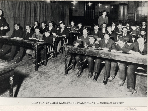 1900 English Classes for Italian Americans