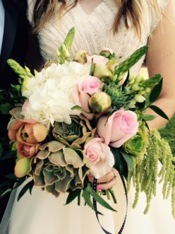 How To Make a Succulent Bridal Bouquet
