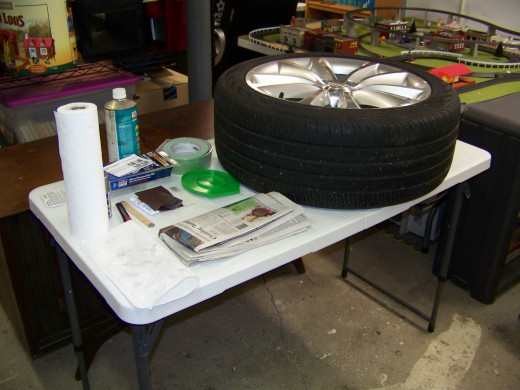 Picture of my Alloy Wheel Repair Station.