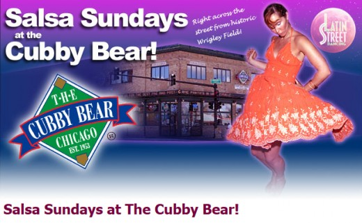 Sunday night salsa dancing at the Cubby Bear