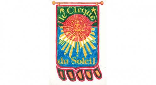 1984 Design for Cirque du Soleil's first logo, by Josée Bélanger.
